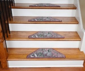 Washable Non-Skid Carpet Stair Treads - Spring Fruit II (13) modern-stair-tread-rugs