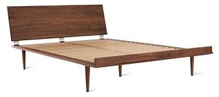 American Modern Bed, Walnut modern beds