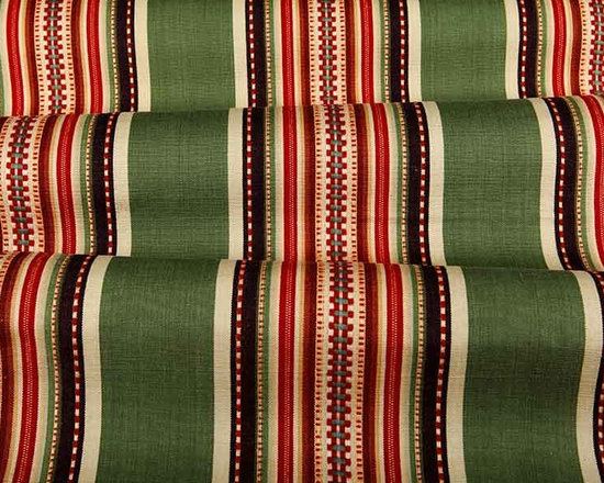 Southwest Stripe Fabric in Sage - Southwest Stripe Fabric in Sage is a multi-color, 100% cotton with a desert inspired theme. Great for upholstery projects, drapery, or bedding and pillows. Unique and eye-catching, but not overwhelming. Width: 54″; Repeat: 9 1/4″H