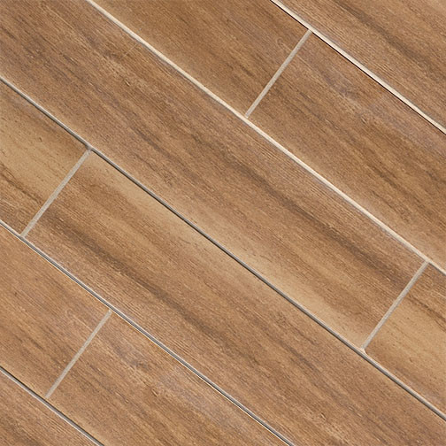 Cherry Wood Plank Porcelain Modern Wall And Floor Tile
