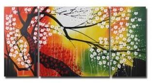 Flower Oil Paintings modern-wallpaper