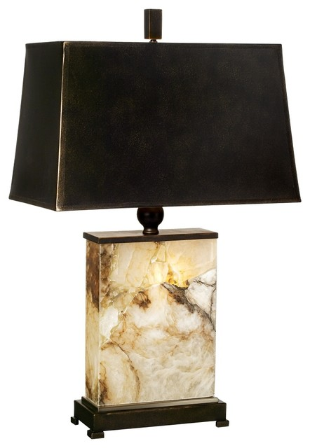 Marius marble night light table lamp contemporary - Traditional table lamps for bedroom ...