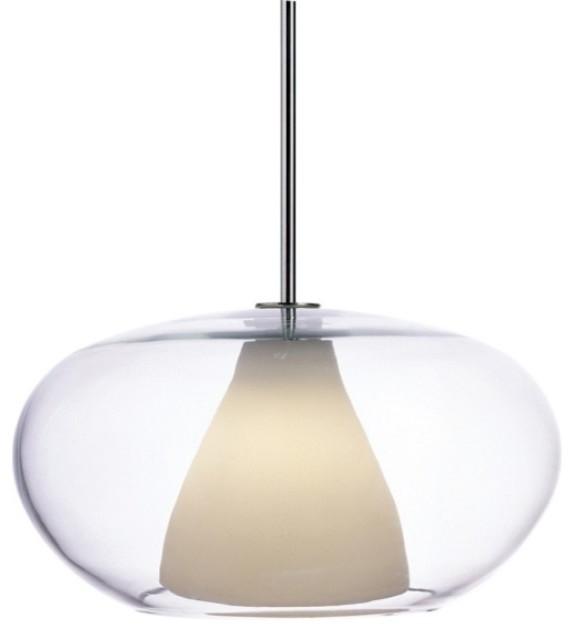 Soft 1-Light Pendant, White contemporary-pendant-lighting