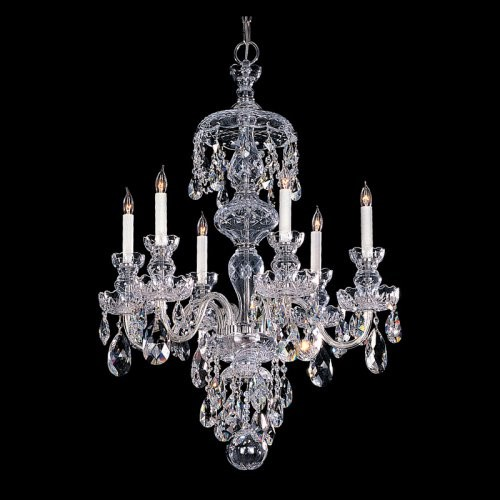 Crystorama 1146-CH-CL-MWP Traditional Crystal Chandelier - 25W in. traditional-chandeliers