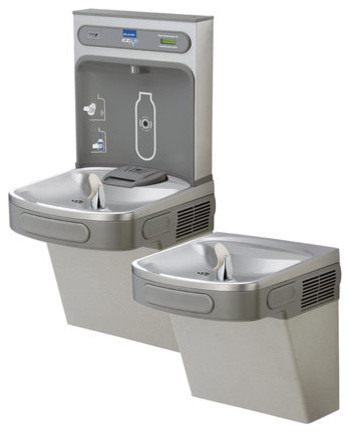 Elkay EZSTL8WSLK N/A EZH2O EZH2O Bi-Level Water Drinking Fountain and contemporary-indoor-fountains
