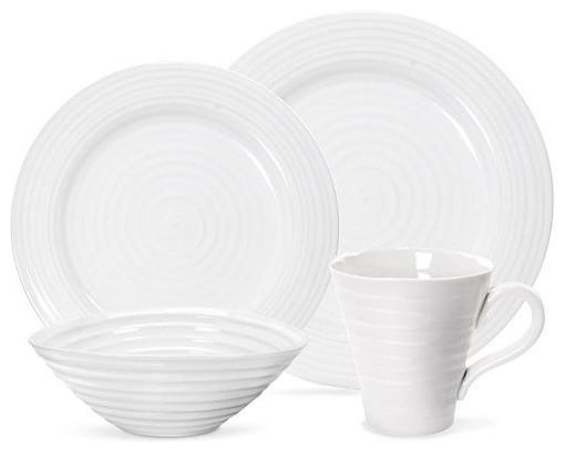 Portmeirion Dinnerware, Sophie Conran White 4-piece Place Setting contemporary-dinnerware-sets
