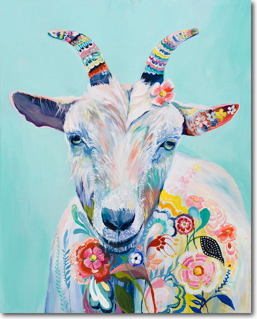 Magical Goat Eclectic Artwork Austin By Skyline