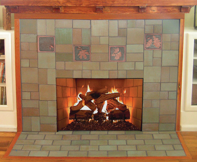 Fireplace 2 Eclectic Indoor Fireplaces Seattle By Fay Jones Day Tile