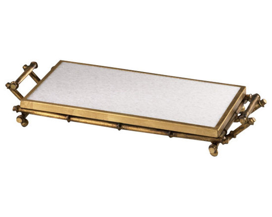 Cyan Design - Bamboo Serving Tray - Bamboo serving tray - gold