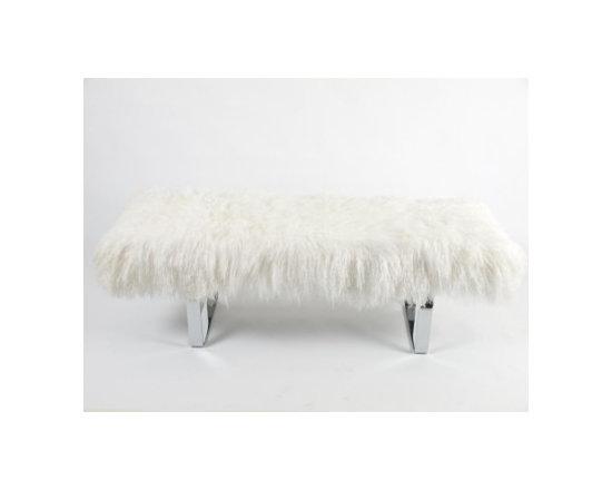 Tibetan Lamb Bench, Natural -