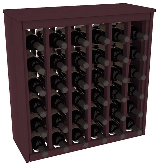 36 Bottle Deluxe Wine Rack in Premium Redwood, Burgundy Stain contemporary-wine-racks