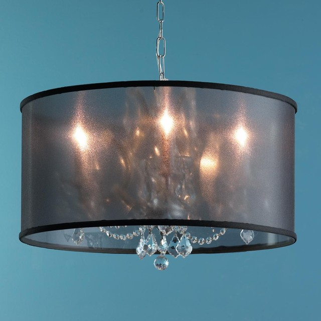 Image Result For Chandeliers With Drum Shade And Crystals