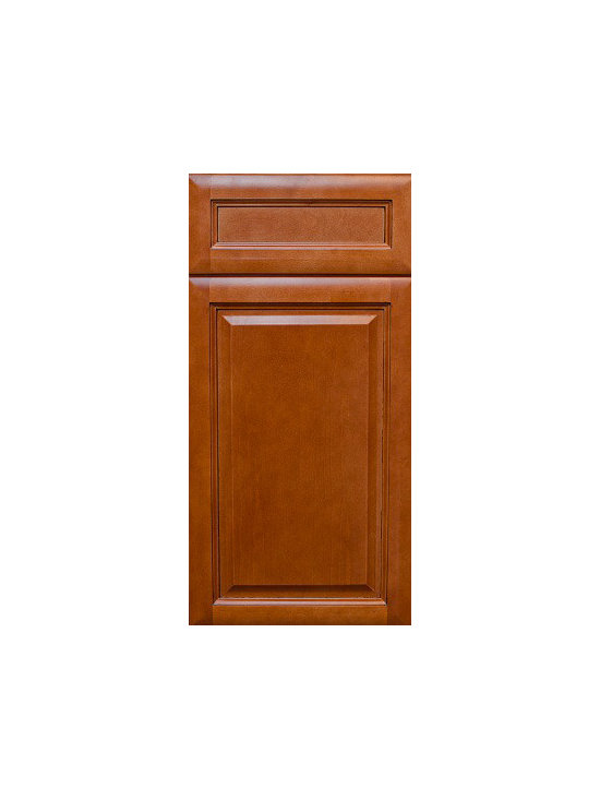 "CINNAMON GLAZE / Assembled Kitchen Cabinets - Full Overlay Door Style - 3/4"" Solid Birch Face-Frame"