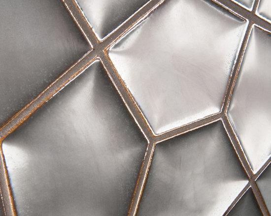 "Ceramic - ANN SACKS Ogassian 8-3/4"" x 11-7/8"" penta 3d ceramic field in metallic black"