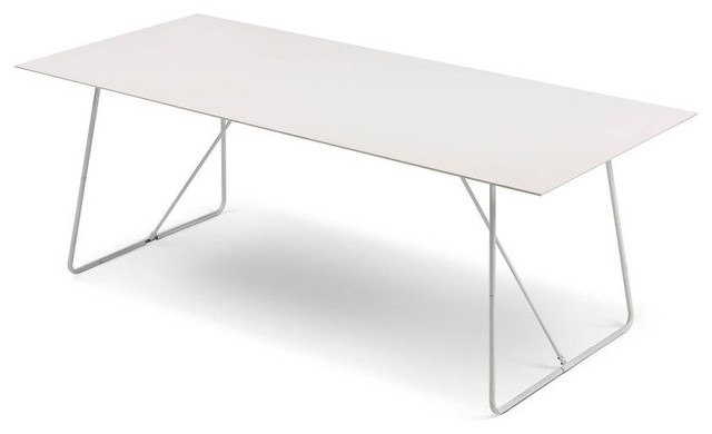 Pacific table ceramic white white metal for White metal outdoor dining table