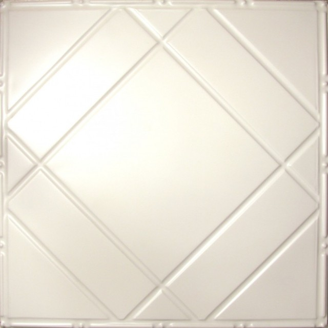 2404 Tin Ceiling Tile - White -Classic Floating Geometry ceiling-tile
