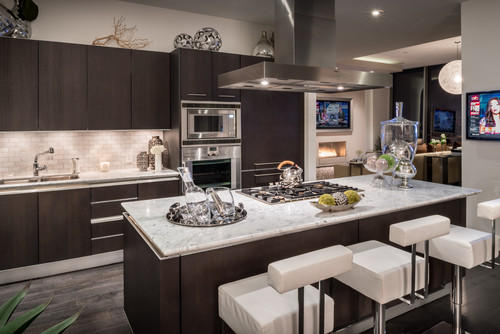 White Ice Granite Dark Cabinets Backsplash Ideas