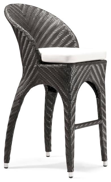 Zuo Corona Bar Chair in Espresso modern-outdoor-benches