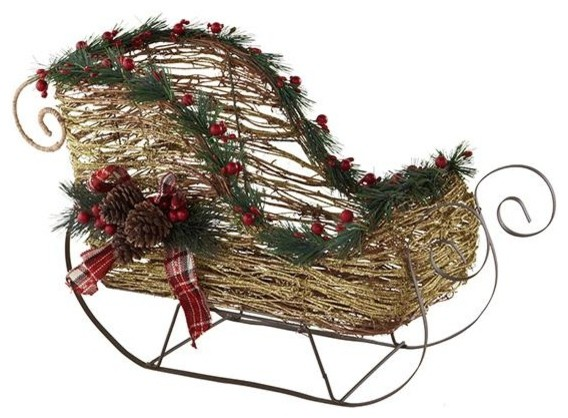 Decorative Sled - Traditional - Outdoor Holiday Decorations