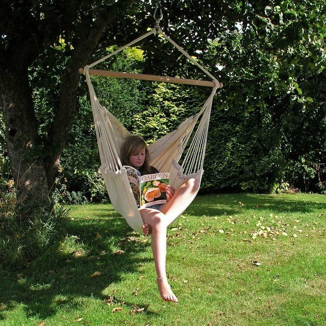 Hammock Chair, Ecru - Contemporary - Hammocks And Swing Chairs - by ...