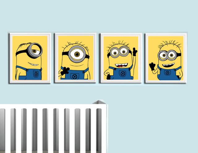 despicable me minions nursery room prints modern