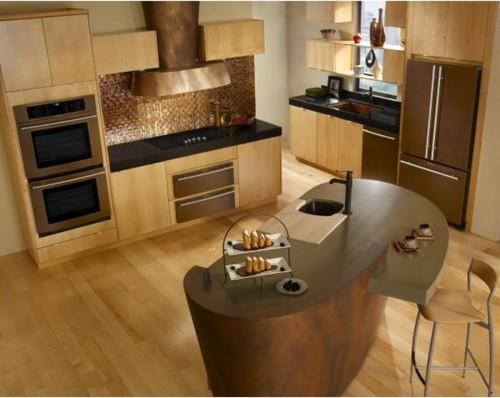 copper sink what color appliances