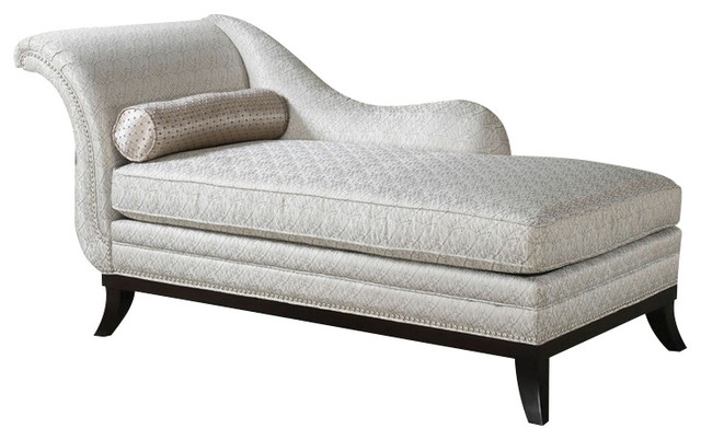 Kimbra collection beige modern classic patterned fabric for Chaise lounge contemporary