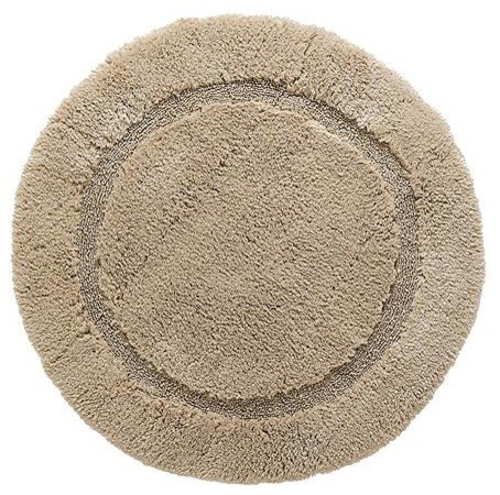 Nonskid Round Resort Bath Rug traditional-bath-mats