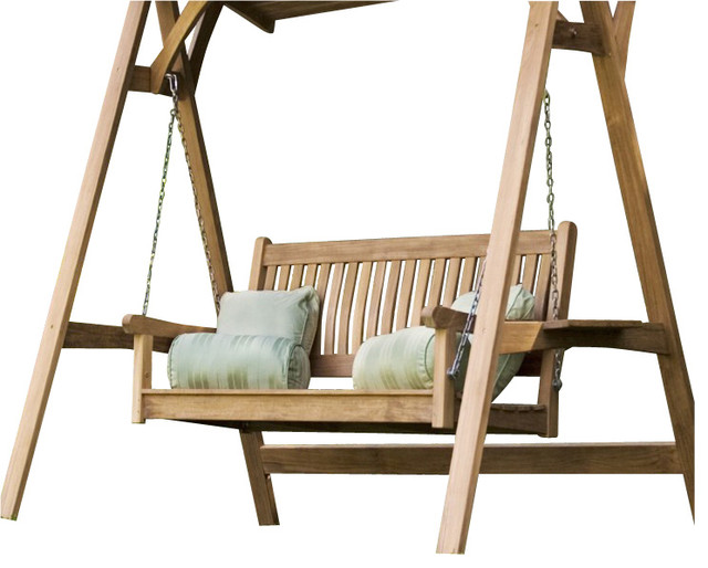 Teak Swinging Bench Only - Traditional - Outdoor Benches - orange county - by Westminster Teak ...