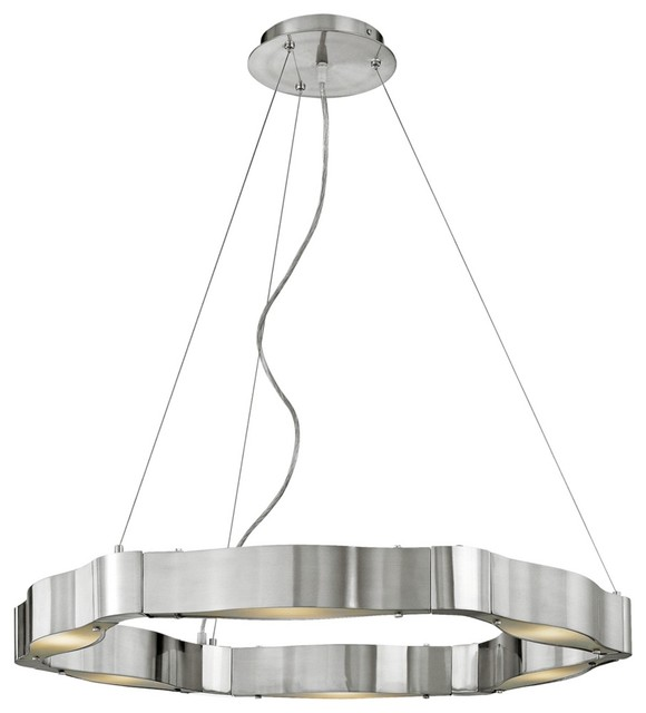 Contemporary Titanium Collection Cable Chandelier contemporary-chandeliers