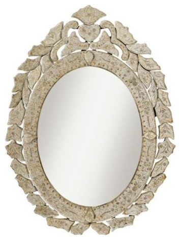 "Kichler Petite Oval Antique Beveled Frame 28"" Wall Mirror - Traditional - Wall Mirrors - by ..."