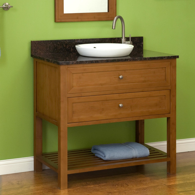 "36"" Taren Bamboo Vanity for Semi-Recessed Sink contemporary-bathroom-vanities-and-sink-consoles"