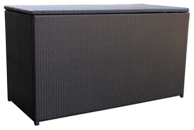 Urbana Outdoor Wicker Cushion Storage Box Contemporary Patio Furniture An