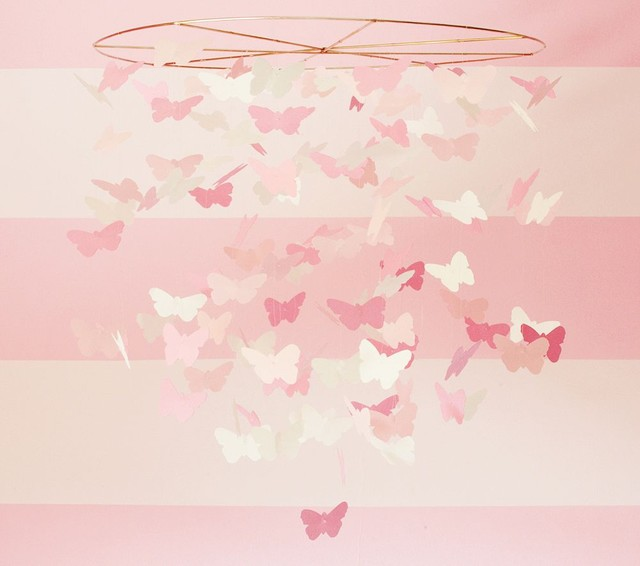 Pink Paper Butterfly Mobile traditional mobiles