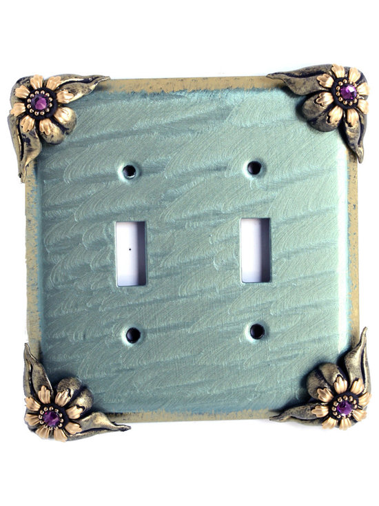 Bloomer Ivy Double Toggle Switch Cover -