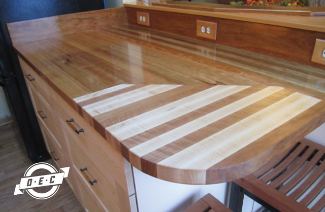 Cutting Kitchen Countertop : ... Maple and Cherry Inlay Cutting Board contemporary-kitchen-countertops