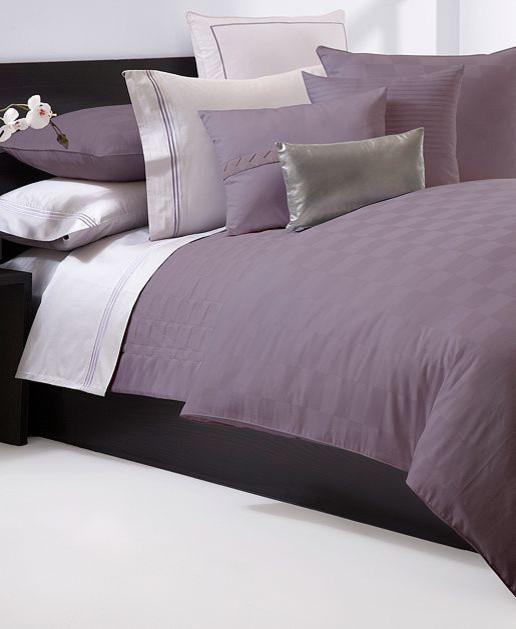 Hugo Boss Bedding, Windsor Plum Duvet Cover contemporary-duvet-covers-and-duvet-sets