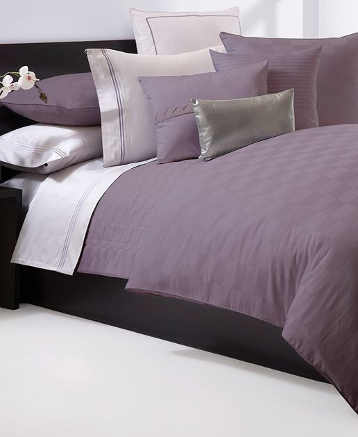 Hugo Boss Bedding, Windsor Plum Duvet Cover contemporary duvet covers