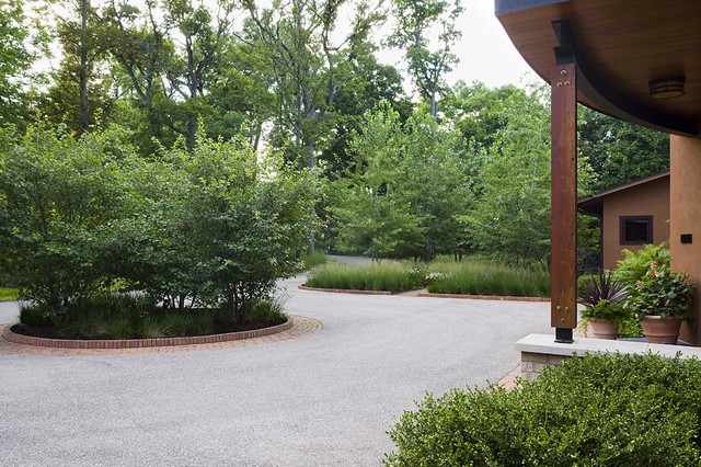 Entry Court contemporary landscape