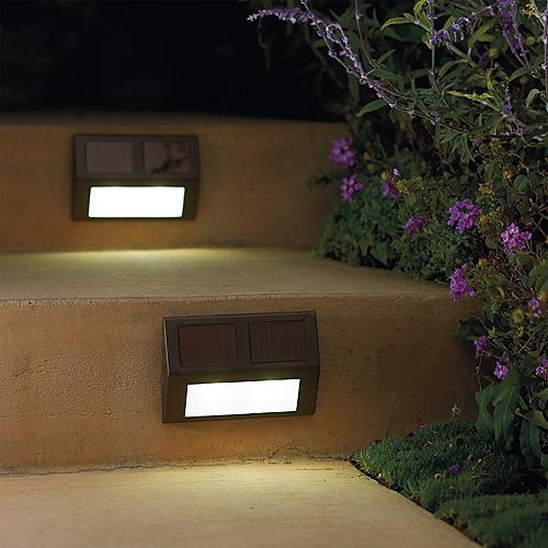 set of four solar wedge lights frontgate contemporary