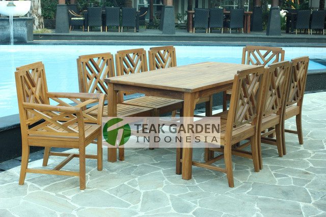 Teak Patio Furniture From Indonesia eclectic-dining-chairs