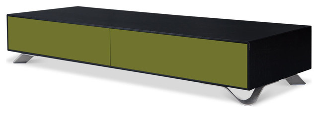 Boomerang Black-Olive Green Special Edition Lowboard Small contemporary-storage-cabinets
