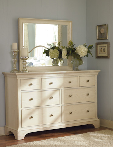 Dresser and Vertical Mirror in Sea Salt traditional-dressers