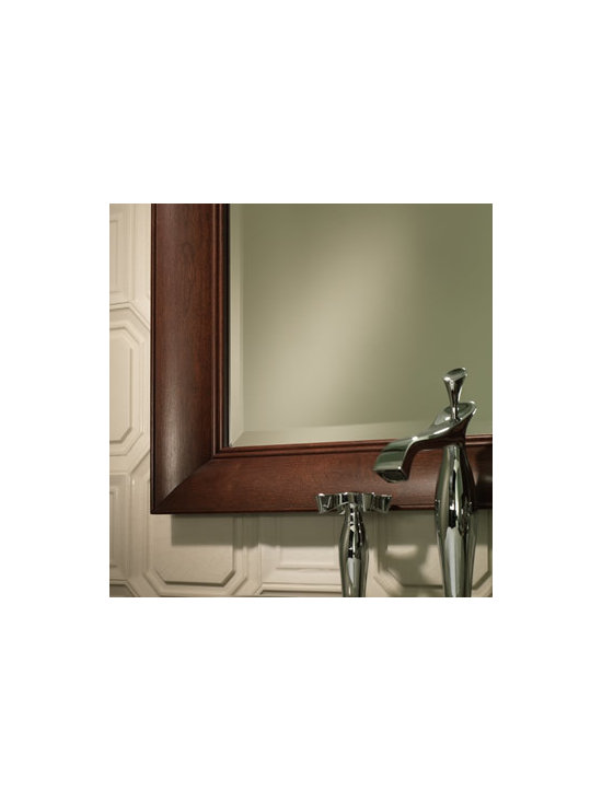 Portrait Framed Mirror - Add a simple framed mirror in the same finish as your vanity for a unified design.
