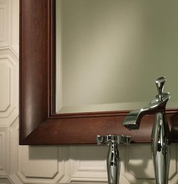 Portrait Framed Mirror traditional-bathroom-mirrors