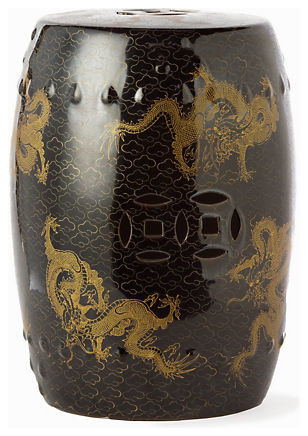 Imperial Dragon Garden Stool asian-side-tables-and-end-tables
