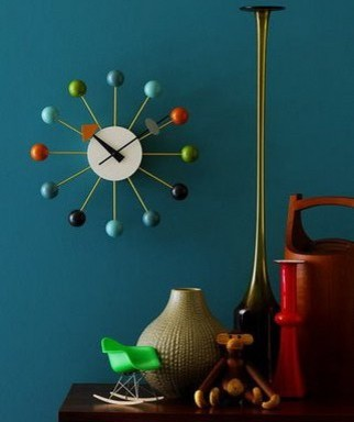 george nelson ball clock multi color by vitra midcentury. Black Bedroom Furniture Sets. Home Design Ideas
