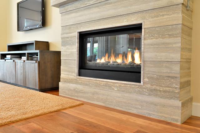Stone slab fireplace ridges las vegas for Modern home decor las vegas