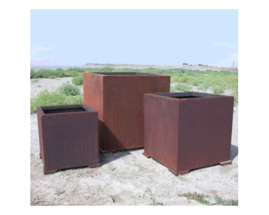 Cube Planter - These planters have a substantial, geometric feel. They would look great outside a contemporary house on the patio.