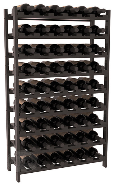 54 Bottle Stackable Wine Rack in Pine with Black Stain + Satin Finish traditional-wine-racks